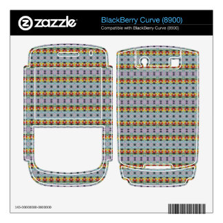 stylish yellow red deco pattern skin for BlackBerry