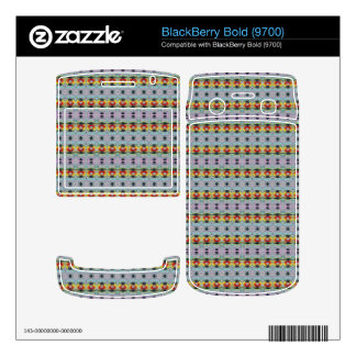 stylish yellow red deco pattern skin for BlackBerry bold