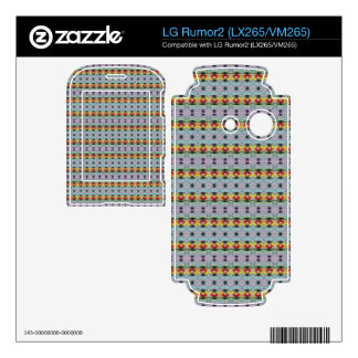 stylish yellow red deco pattern decals for LG rumor2
