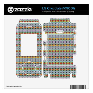 stylish yellow red deco pattern skin for LG chocolate