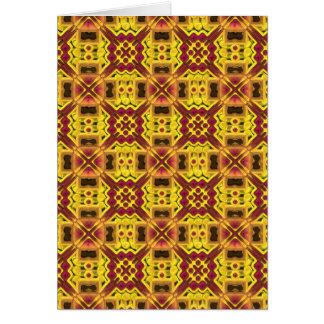 Stylish yellow red design card