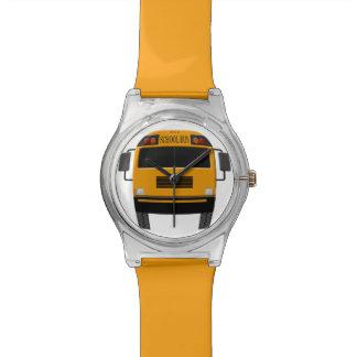 Stylish Yellow School Bus Wristwatch