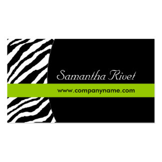Stylish Zebra BusinessCards :: {Horizontal} Double-Sided Standard Business Cards (Pack Of 100)