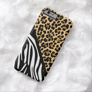 Stylish Zebra Print and Leopard Print iPhone Case