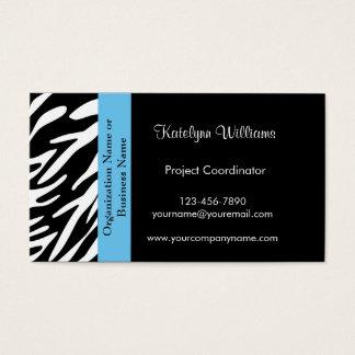 Stylish Zebra Print Business Cards