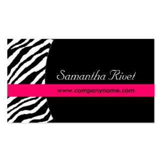 Stylish Zebra Print  :: Business Cards{Horizontal} Double-Sided Standard Business Cards (Pack Of 100)