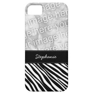 Stylish Zebra Print Custom Photo iPhone 5 Case