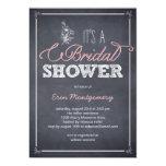 Stylishly Chalked Bridal Shower Invitations Custom Invites