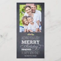 Stylishly Chalked Holiday Photo Card