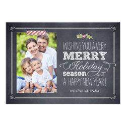 Stylishly Chalked Holiday Photo Cards