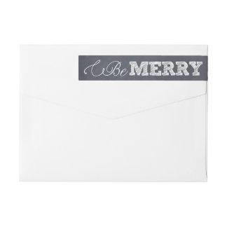 Stylishly Chalked Holiday Wraparound Label Wraparound Return Address Label