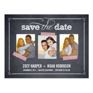 Stylishly Chalked - Save The Date Postcard