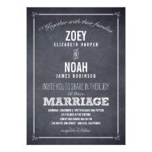 Stylishly Chalked Wedding Invitations