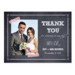 Stylishly Chalked Wedding Thank You Card Post Cards