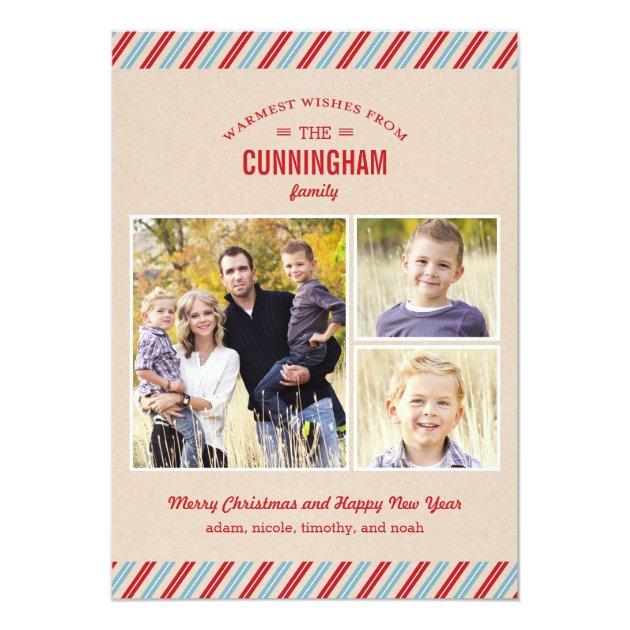 Stylishly Mailed Holiday Photo Card