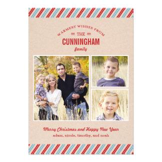 Stylishly Mailed Holiday Photo Card Invite
