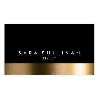Stylist Bold Black Gold Business Card Business Cards