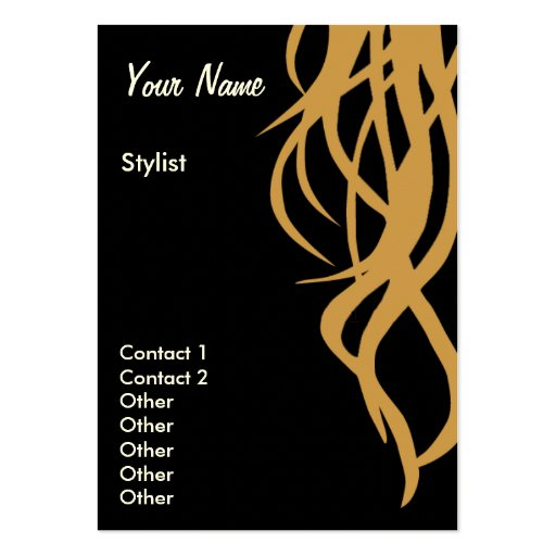 Stylist Business Cards two sided vertical