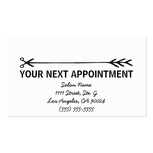 Stylist Business Cards w/Appointment Reminder Business Cards