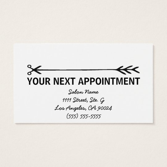 Stylist Business Cards w/Appointment Reminder