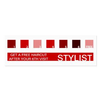 STYLIST customer appreciation (mod squares) Business Card Template