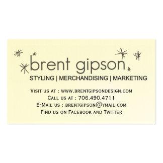 STYLIST / DESIGNER / STAGER BUSINESS CARD