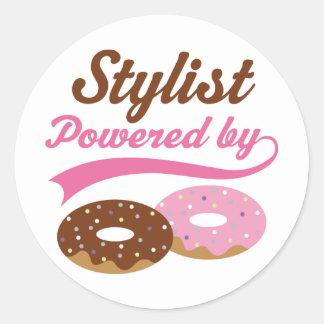 Stylist Funny Gift Round Sticker