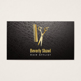 Stylist / Golden Shears & Comb Business Card