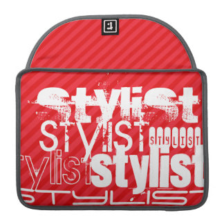Stylist; Scarlet Red Stripes Sleeve For MacBooks