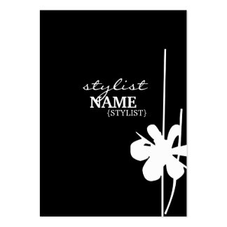 Stylist Vertical Black Shubby Large Business Cards (Pack Of 100)