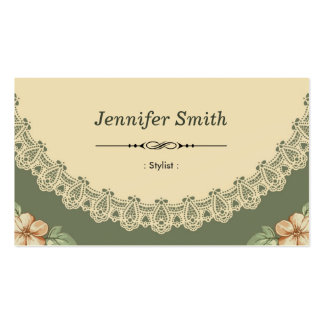 Stylist - Vintage Chic Floral Business Card Templates