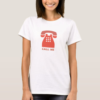 Stylistic Vintage Red Phone Call Me all Colors T-Shirt