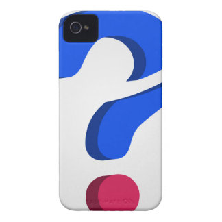Stylized 3d question mark iPhone 4 case