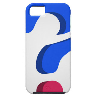 Stylized 3d question mark iPhone SE/5/5s case