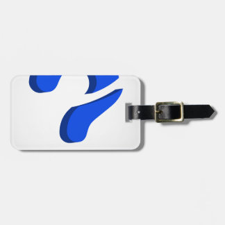 Stylized 3d question mark luggage tag