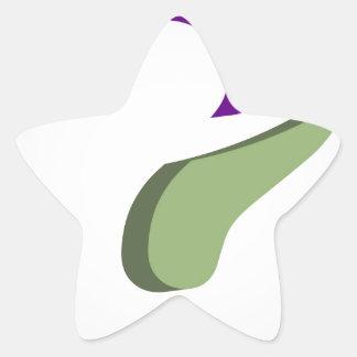 Stylized 3d question mark star sticker