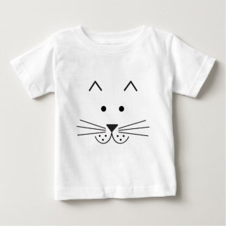 Stylized Abstract Cat Face Illustration Design Baby T-Shirt