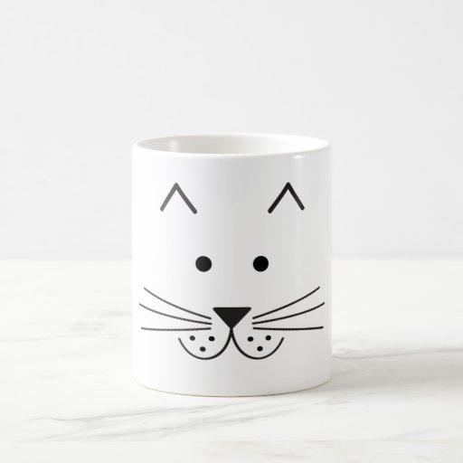 Stylized Abstract Cat Face Illustration Design Mug