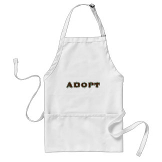 Stylized Adopt Design Adult Apron