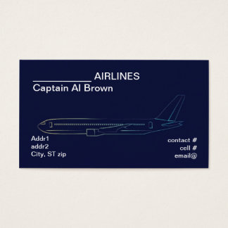 stylized airliner business card