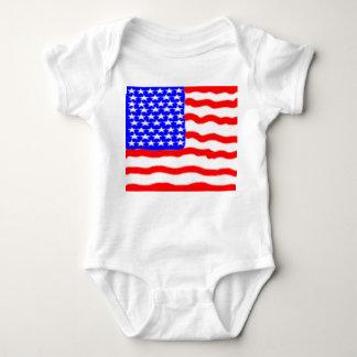 Stylized American Flag Infant Creeper