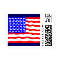 Stylized American Flag Postage