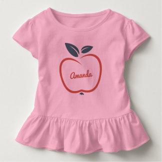 Stylized Apple custom text clothing Toddler T-shirt