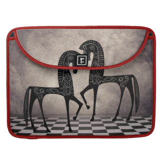 Stylized Arabian Horses  Rickshaw Flap Sl Sleeve For MacBook Pro