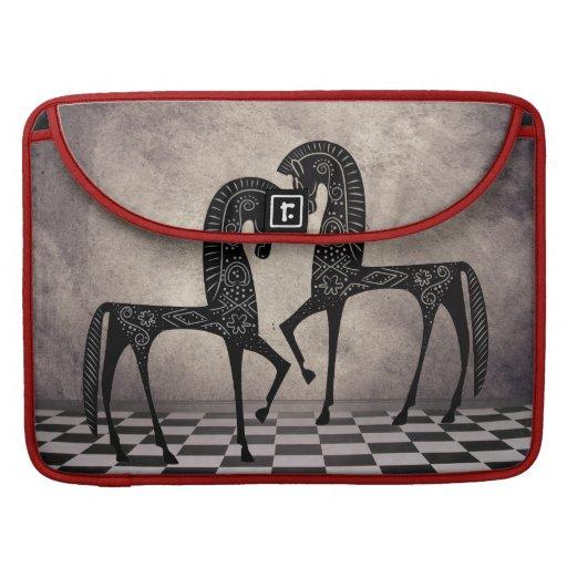 Stylized Arabian Horses  Rickshaw Flap Sl Sleeve For MacBook Pro