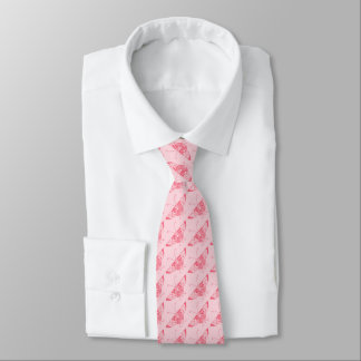 Stylized Art Deco butterfly - coral pink Tie