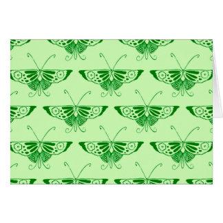Stylized Art Deco butterfly - emerald green Card