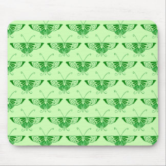 Stylized Art Deco butterfly - emerald green Mouse Pad
