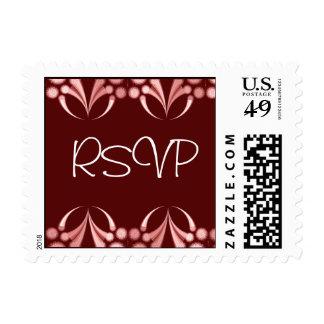 Stylized Art Nouveau RSVP Postage Stamp