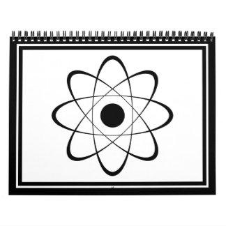 Stylized Atom Symbol Wall Calendars
